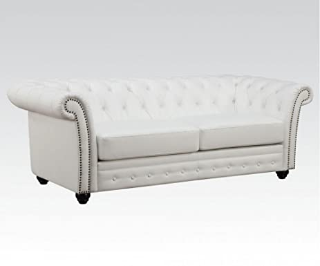 ACME Camden White Bonded Leather Sofa