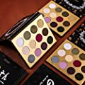 Docolor Eyeshadow Palette Makeup-12 Colors Pigmented Matte Shimmer-Professional Chunky Gothic Skull-Designed Platte with Waterproof Pop Colors Cream Powder Blendable Make Up Cosmetics Palette