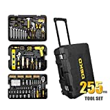 Doctag paradise Hand Tool Set General Household Hand Tool Kit with Plastic Toolbox Storage Case Socket Wrench Screwdriver Knife,TZ255