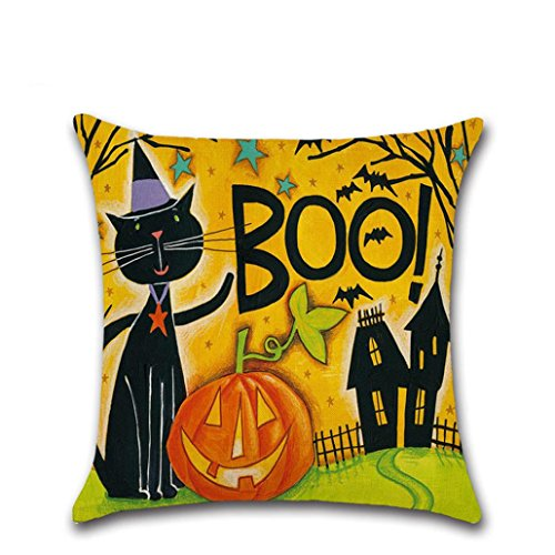 Pillow Case, Hatop Happy Halloween Halloween Sofa Bed Home Decor Pillow Case Cushion Cover (B)