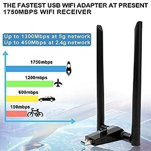 ANEWISH 1750Mbps Adattatore WiFi USB 3, 1750Mbps bene e male allo