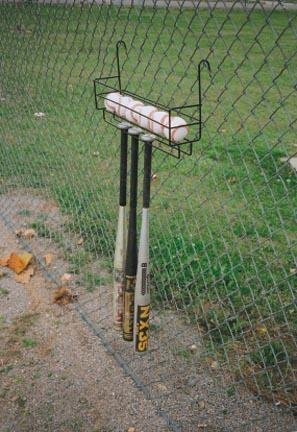 Bat and Ball Holder by Unknown