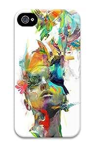 Explore 3D Hard Plastic Case for iphone 4/4s (Art Painting) -70935
