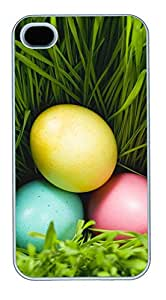 iPhone 4 4s Cases & Covers - Three Eggs And Grass Custom PC Soft Case Cover Protector for iPhone 4 4s - White