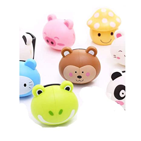 Q4 2 X Animal Toothbrush Holder for Kids; Suction Cup Cute Toothbrush Holders/Covers.Toddler Toothbrush Holder. 2 Pieces.