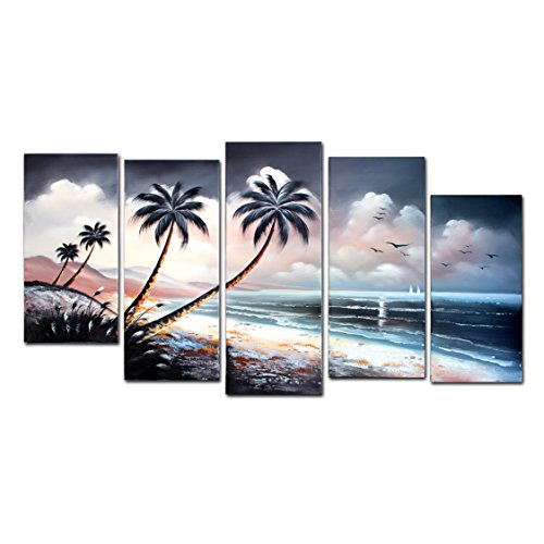 fly-spray-5-piece-100-hand-painted-oil-paintings-panel-stretched-framed-ready-hang-landscape-island-