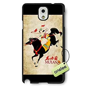 Disney Cartoon Mulan Frosted Phone Case & Cover for Samsung Galaxy Note 3 - Black