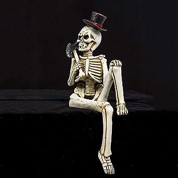 IAOHUO Regalos estatua abstracta de Halloween y decoración Figura, cráneo adorno de poliresina Art Deco Partido al aire libre de interior suministros índice decoraciones de ilustraciones for la oficin: Amazon.es: Hogar