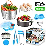 Pressure Cooker Accessories Set for Instant Pot 6, 8 Qt, AHNR 16PCS Cooking Accessories Including Steamer Basket, Non-stick Springform Pan, Egg Steamer Rack, Egg Bites Mold, Bonus Magnetic Cheat Sheet
