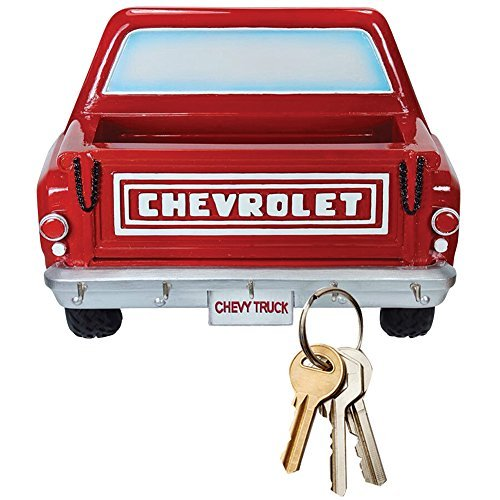 chevy-pickup-truck-3d-manly-key-rack-w-5-hooks-and-bed-to-hold-small-items