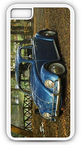 iPhone 6 Plus 6+ Case VW Beetle Classic Punchbug Game Customizable by TYD Designs in White Rubber