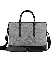 "Cartinoe 11.6 inch Felt Laptop Tote Bag Shoulder Bag Women Handbag Carrying Briefcase Satchel Bag Sleeve Case for 11 12 inch MacBook Air Retina 12"" HP Asus Acer Samsung Chromebook Ultrabook Tablet"