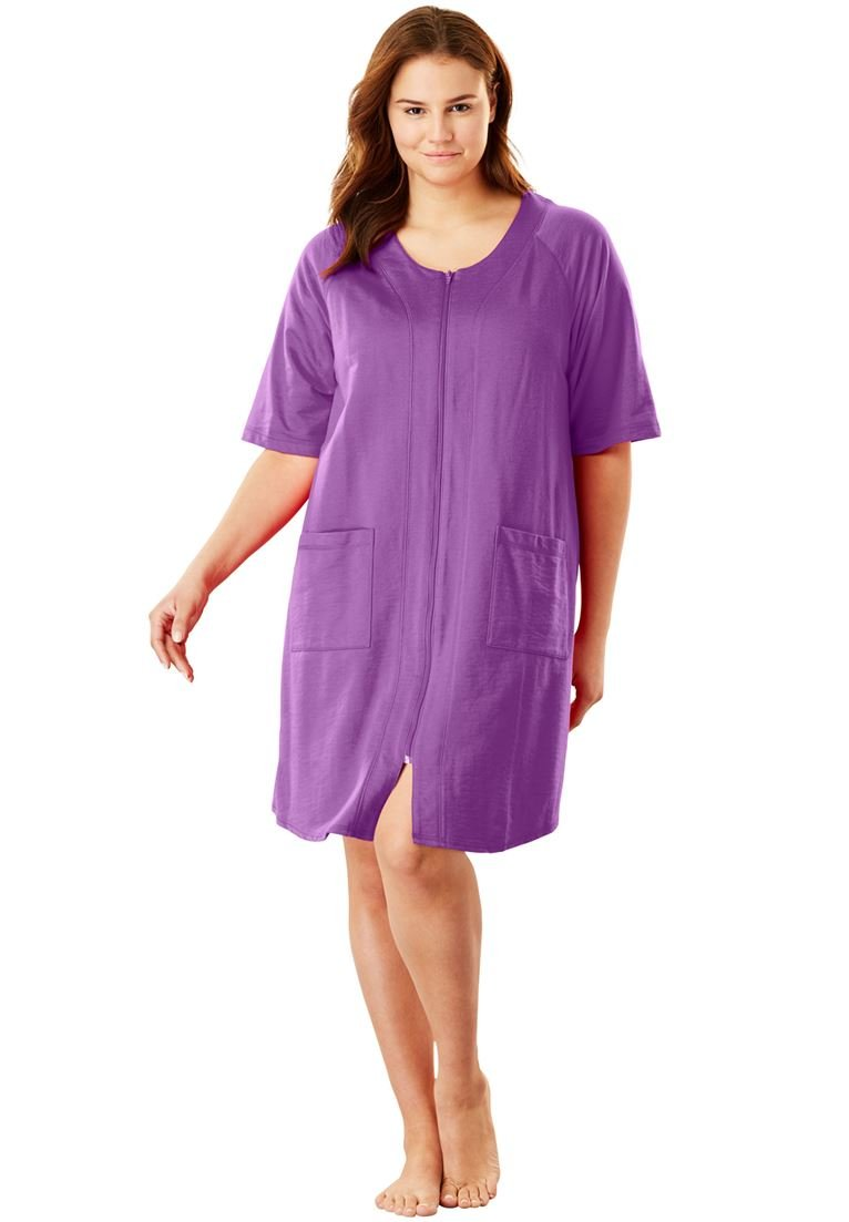 Dreams & Co. Women's Plus Size Short French Terry Robe by Dreams & Co. (Image #1)