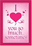 """2147 'Love You So Much' - Funny Valentine's Day Greeting Card with 5"""" x 7"""" Envelope by NobleWorks"""