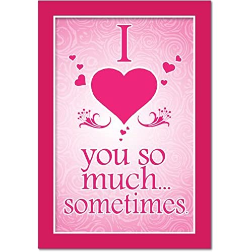 NobleWorks 2147 Love You So Much Funny Valentine's Day Unique Greeting Card, 5 x 7 Sales