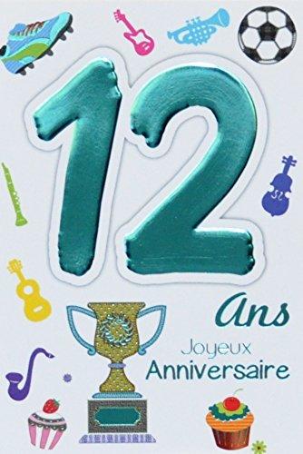 Age Mv 69 2012 Carte Joyeux Anniversaire 12 Ans Ados Garcon Fille