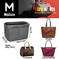 8dfda4fafae2 KINGDOO Felt Purse Organizer Insert Bag Organizer Handbag Tote Bag ...