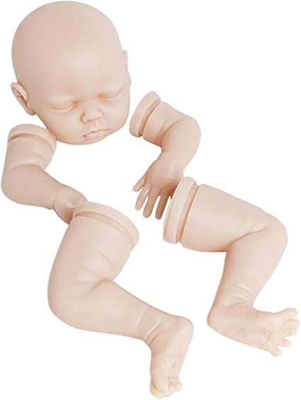 """Real Gentle Touch 18/"""" Sleeping Baby Doll Vinyl Reborn Kits Unpainted Silicone"""