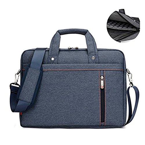 ulder Bag Waterproof Messenger Bag Shockproof Laptop Case Roomy Stylish Handle Bag Tablet Briefcase for 15-17.3 Inch Laptop/Ultrabook/MacBook Pro Retina Case/Surface, Blue ()