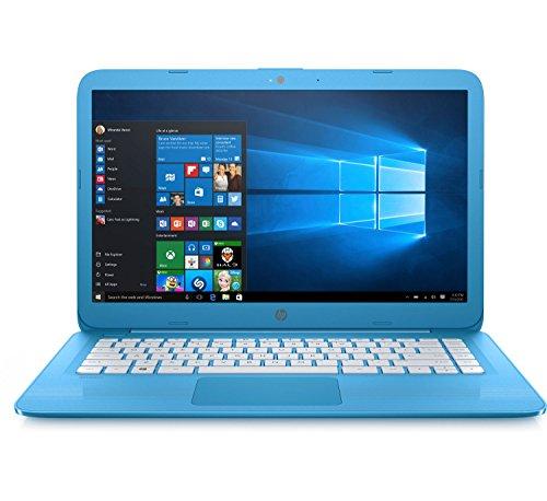 "HP Stream 14"" Laptop, Intel Celeron N3060, 4GB RAM, 32GB Solid State Drive with Windows 10 (14-ax010ca) - Aqua Blue (Certified Refurbished)"