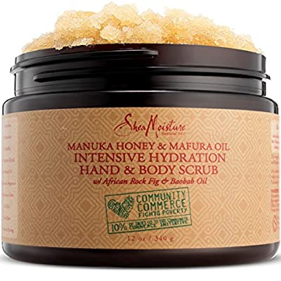 SheaMoisture Manuka Honey & Mafura Oil Intensive Hydration Hand & Body Scrub | 12 oz.