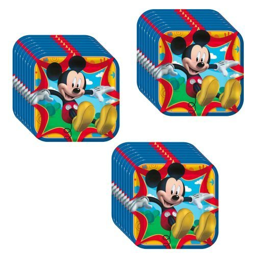 [Disney Mickey Mouse Clubhouse Party Dinner Plates -24 Guests by Hallmark] (Mickey Mouse Clubhouse Plates)
