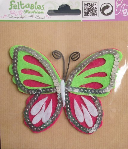 FASHION FELTABLES Decorative BUTTERFLY 4-1/4