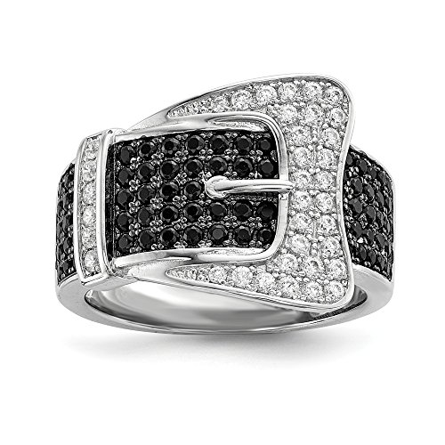 925 Sterling Silver Cubic Zirconia Cz Buckle Band Ring Size 6.00 Fine Jewelry Gifts For Women For Her