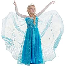 Daily Proposal FE11 Disney Frozen Inspired Lace Elsa Costume Dress Girl Cosplay Party 3T-12