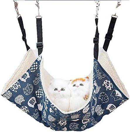 PAPIEEED Hamaca colgante para gato suave para mascotas pequeña hamaca de felpa planeador para hamster, accesorios para hurones, gatitos, cobayas, jerbos