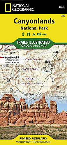 National Geographic Trails Illustrated Map, 210 Canyonlands UT