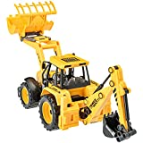 Backhoe Toy Truck Friction Powered Construction Vehicle By Dragon Too (12 Inches)