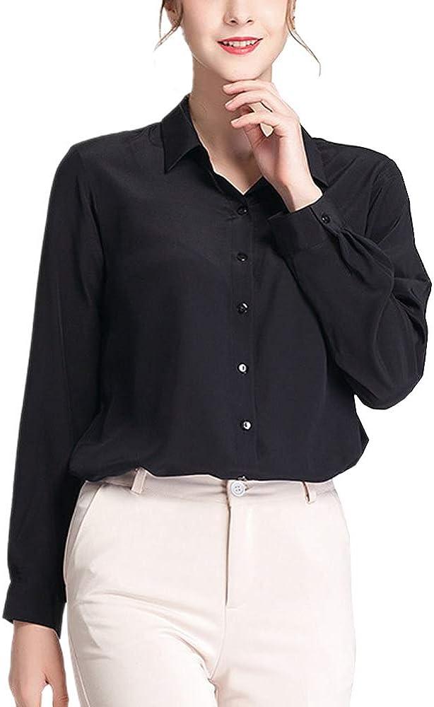 E-girl BS20010 - Blusa de seda para mujer Negro 46: Amazon.es ...