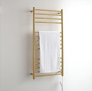 WRH-towel warmer Ronda de Tubo montado en la Pared calentada de Acero Inoxidable toallero eléctrico/baño Radiador/Calentador de Toallas 9006, ...