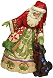 Jim Shore for Enesco Heartwood Creek Santa with Puppy Figurine, 9""