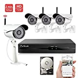 720p HD 4CH NVR Wireless Home Security Camera System Smart Recording 1TB Hard Drive