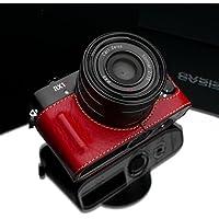 Gariz HG-RX1R2R Leather Metal Half Case for Sony RX1RII RX1R2 RX1R II, Red