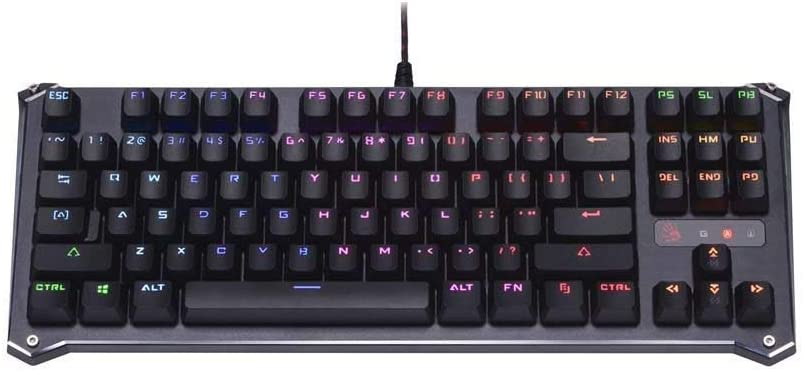 B930 TKL Tenkeyless Optical Switch Gaming Keyboard by Bloody Gaming   Fastest Keyboard Switches in Gaming  Ultra-Compact Form Factor   RGB LED Backlit Keyboard   Tactile & Clicky