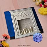 VROSELV Custom Cotton Microfiber Ultra Soft Hand Towel-white fireplace in the room and white candles Custom pattern of household products(14''x14'')