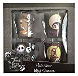 Disney The Nightmare Before Christmas Halloween Mini Shot Glasses Set of 4