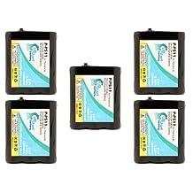 5x Pack - Panasonic KX-TGA2705 Battery - Replacement for Panasonic Cordless Phone Battery (1200mAh, 3.6V, NI-MH)