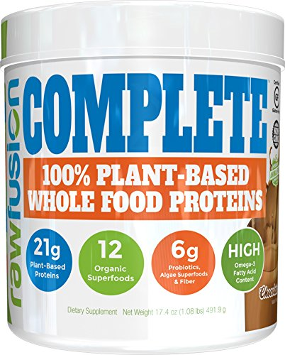 (SAN Nutrition RawFusion Complete Plant-Based Whole Food Meal Replacement Powder, Natural Chocolate, 1 Pound)