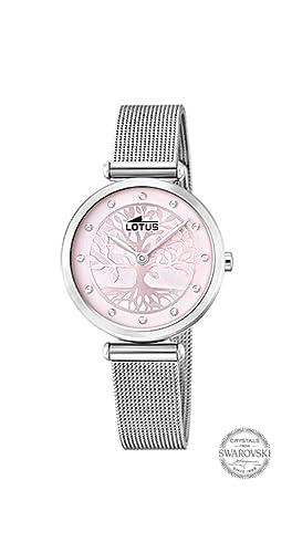 Reloj Lotus Bliss Swarovski 18708/2 Mujer Esfera Rosa Caja 29 MM Acero