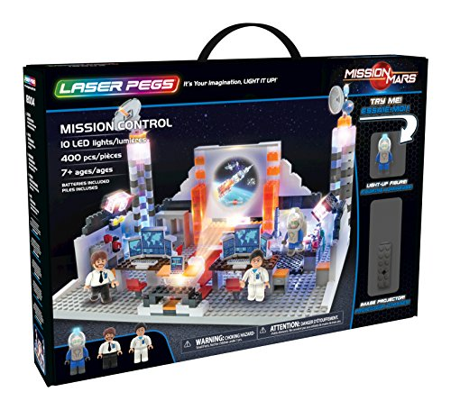 Laser Pegs Mission Control Light Up Building Kit (400 pieces)