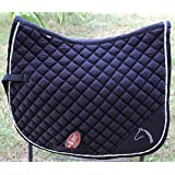 Horse Quilted ENGLISH SADDLE PAD Tack Trail Riding Black 7264