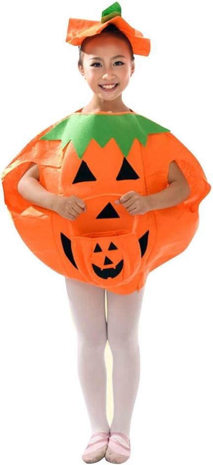 UHAoo Disfraz de Calabaza de Halloween para niños y Adultos ...