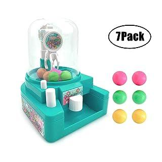 KOBWA Claw Toys Machine per Bambini, Mini Manuale Candy Ball Claw Grabber Giocattolo, Confezione da 7, Regalo Creativo per Bambini (Blu) 9