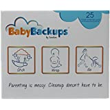 BabyBackups Diaper Extender Pads, 25 Pack – Prevent Diaper Blowouts