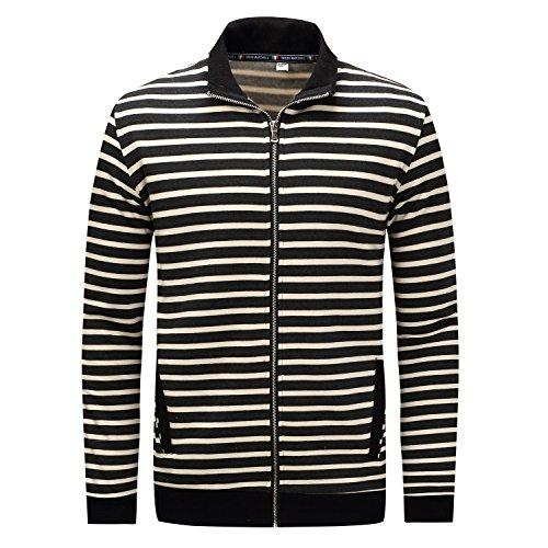 Coat Coat Coat Inverno casual Autunno Black Black Black QIN Uomo Cappotti Top giacca amp;X Z1nAR