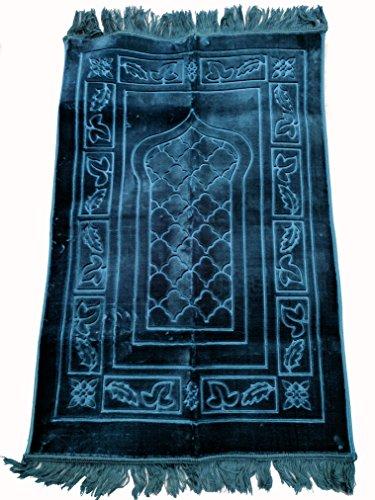 Collectors Edition Wide (Mid Night Blue) Prayer Mat Soft Padded Islamic Muslim Janamaz Sajadah Carpet